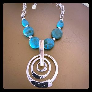 Robert Lee Morris turquoise pendant necklace